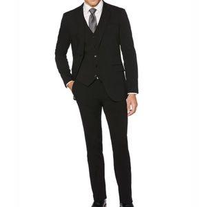 Perry Ellis Very Slim black suit 38Short 30x30